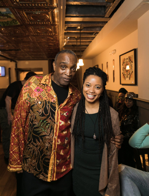Ray Shell and actress Cynthia Nesbit. Photo by Sekou Luke Studio.  Photo