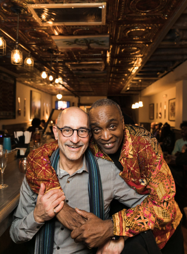 Graphic design artist Frank Marchese and Ray Shell. Photo by Sekou Luke Studio.