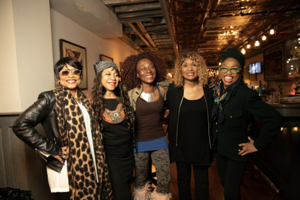 Left to right: Norma Jean Wright, Sevaria, Lynna''movingstar, Vivian Reed, and Joshie Jo Armstead. Photo by Sekou Luke Studio.