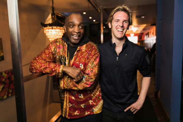 Ray Shell and music journalist Christian John Wikane before their live Q&A at Spoonfed NYC. Photo by Sekou Luke Studio.