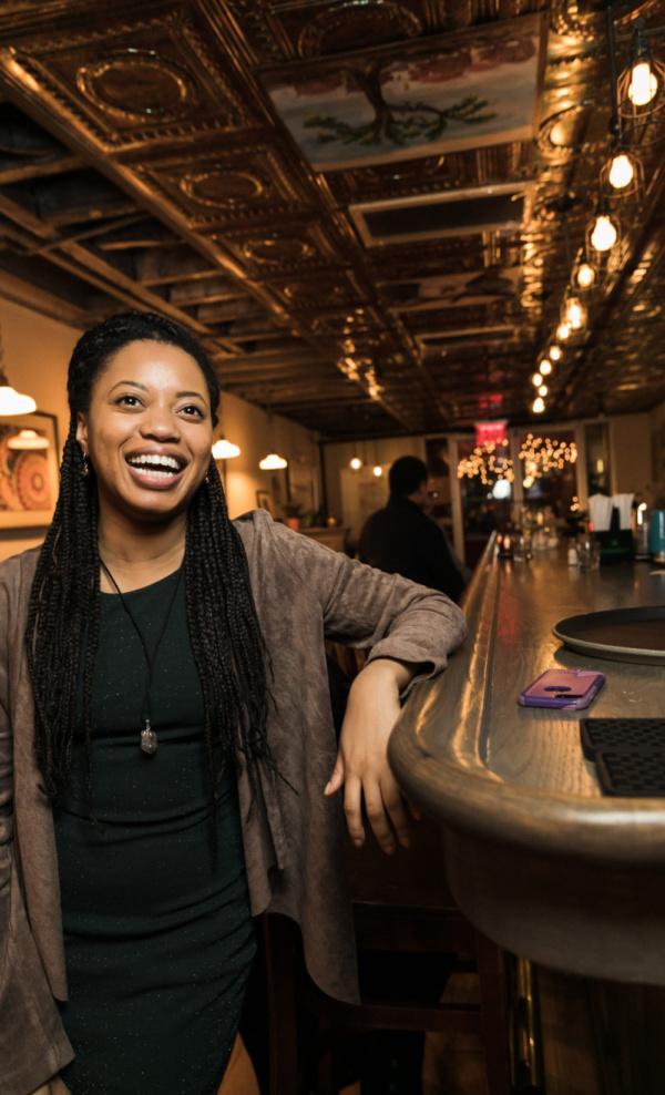 Cynthia Nesbit at Spoonfed NYC. Photo by Sekou Luke Studio.  Photo