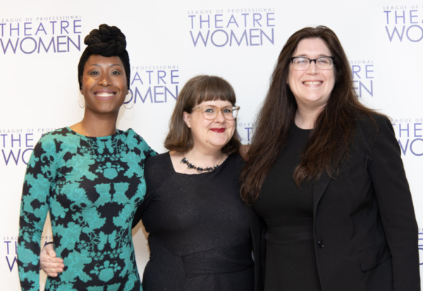 LPTW Lucille Lortel Visionary Award recipients The Kilroys: Zakiyyah Alexander, Joy Meads, and Kelly Miller.     Photo credit: Valerie Terranova