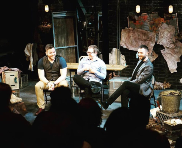 Associate Artistic Director of the Actors Studio Drama School, Ken Urso, moderates a talkback after the world premiere of Birdsong with writer and director, Caleb John Cushing and Joshua Ster