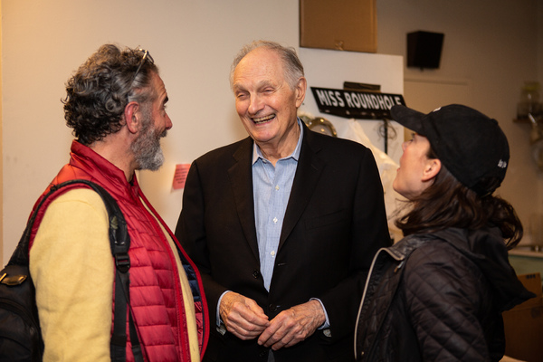 Steven Skybell, Alan Alda, Jennifer Babiak Photo