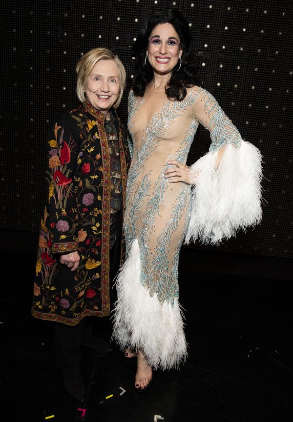 Photo Flash: Lin-Manuel Miranda and Hillary Clinton Visit THE CHER SHOW
