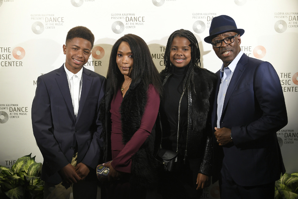 Angela Bassett and Courtney B. Vance with children   Photo