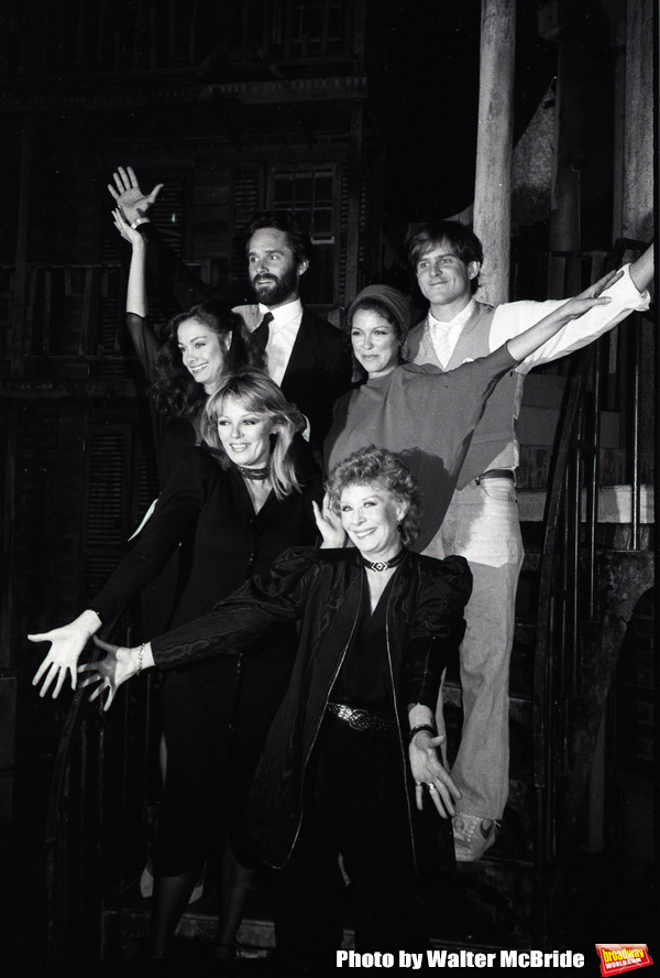 "Gregory Harrison, David Marshall Grant, Shanna Reed, Deborah Geffner, Sheree North with Gwen Verdon making her Television debut in ""Legs"" an American made-for-television musical drama film at Radio City Music Hall on 9/03/1983 in New York City."