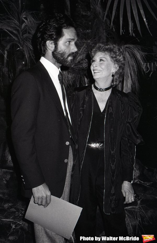 """Gregory Harrison and Gwen Verdon in """"Legs"""" an American made-for-television musical drama film at Radio City Music Hall on 9/03/1983 in New York City."""