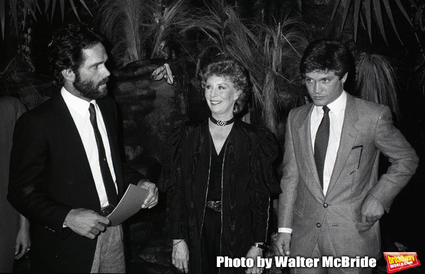 """Gregory Harrison, Gwen Verdon and Andrew Stevens in """"Legs"""" an American made-for-television musical drama film at Radio City Music Hall on 9/03/1983 in New York City."""