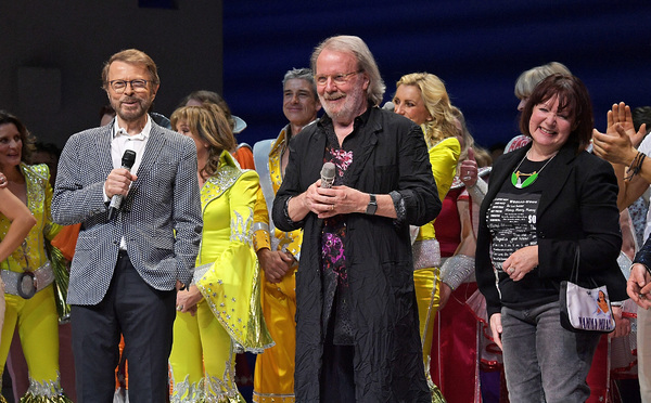 Bjorn Ulvaeus, Benny Andersson and Catherine Johnson