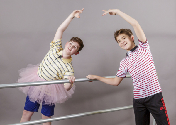 Burke Brickner (L) and Parker James Fullmore (R) play Michael and Billy Elliot, best friends who just want to express themselves.