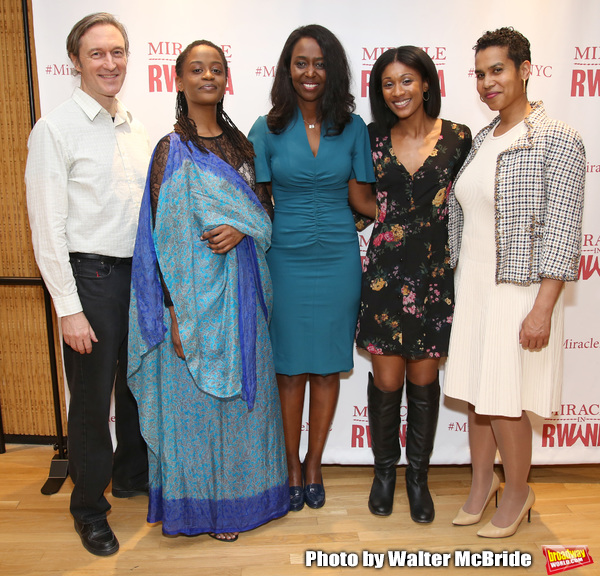 George Drance, Malaika Uwamahoro, Immaculee ILibagiza, Nisarah Lewis and Leslie Malai Photo