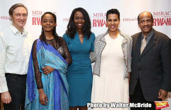 George Drance, Malaika Uwamahoro, Immaculee ILibagiza, Leslie Malaika Lewis and Allen Photo