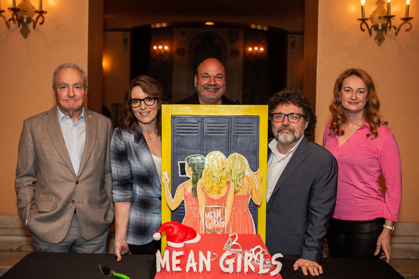 MEAN GIRLS Creative Team, including Tina Fey, Casey Nicholaw, Jeff Richmond, and Nell Photo