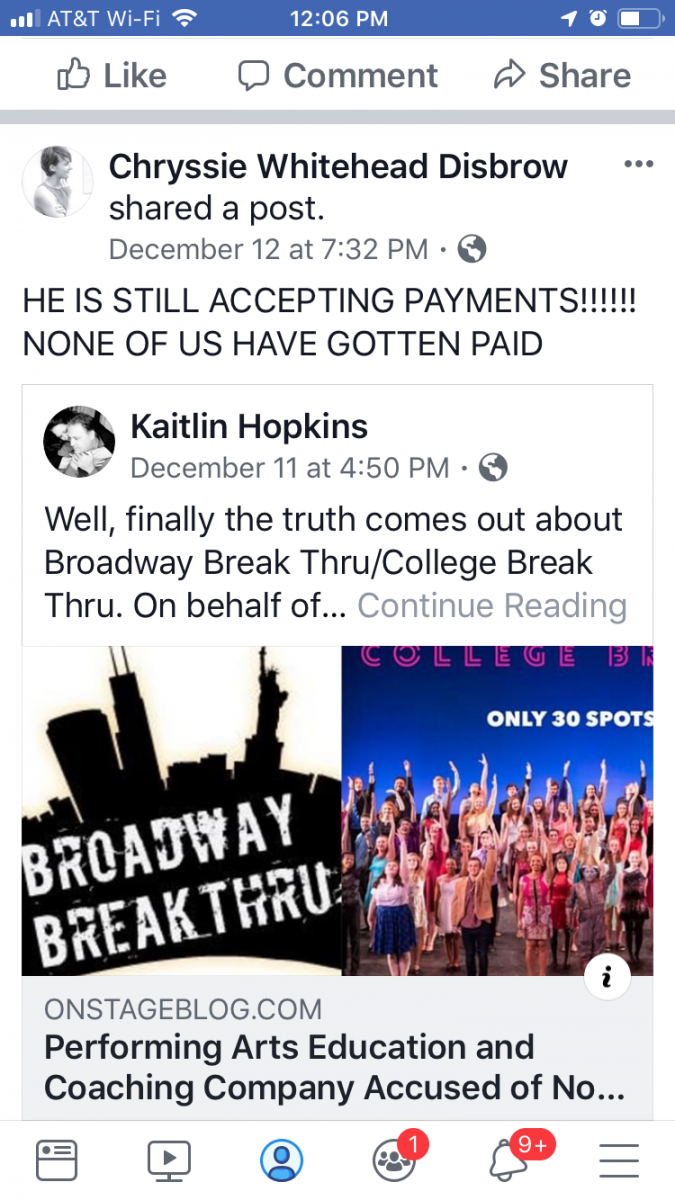 BWW Exclusive: David Petro's Broadway Break Thru Failed to Pay Instructors, Suspends College Program for 2019
