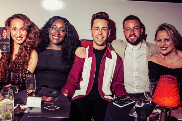 At the post show reception with Emma Kingston, Claudia Kariuki, Nick Butcher, Paul Taylor-Mills, Rebecca Lock.