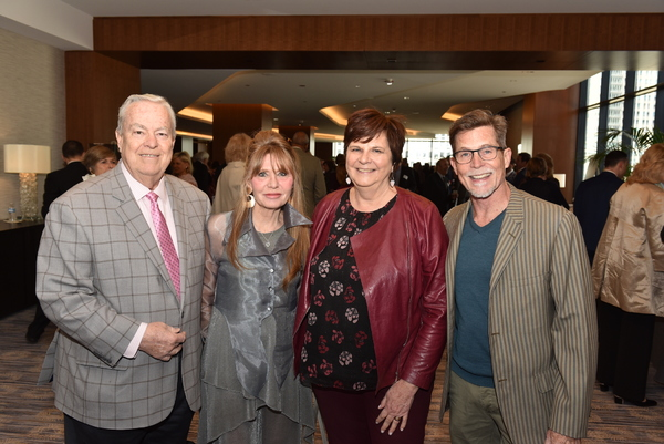 (L to R) Porchlight Music Theatre 25th Anniversary Committee Chairs: Bill Kurtis, Donna La Pietra, Deann and Rick Bayless