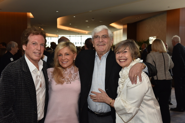 Bill Marovitz, Asia Gajderowicz, Julian Frazin and Porchlight Music Theatre board member Rhona Frazin