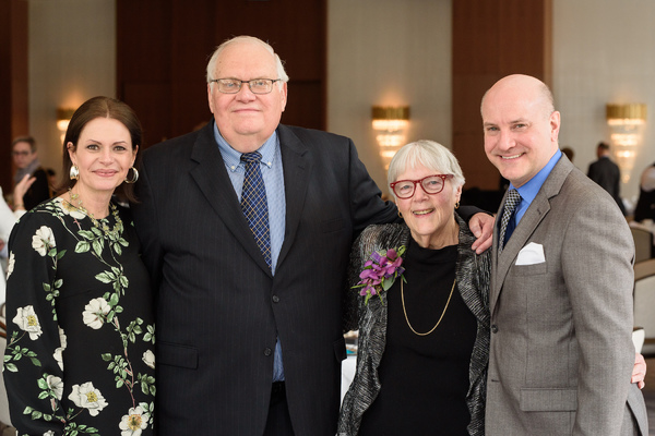 Porchlight Music Theatre Executive Director Jeannie Lukow, 2018 Luminary Award Recipient Jim Jensen and 2019 Luminary Award Recipient Jean Klingenstein and Porchlight Music Theatre Artistic Director Michael Weber