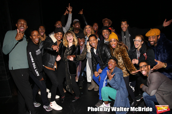 Natasha Lyonne, Danielle Brooks and Dascha Polanco with the cast and crew