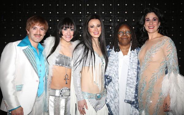 Jarrod Spector, Micaela Diamond, Teal Wicks, Whoopi Goldberg, Stephanie J. Block Photo