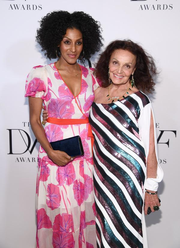 Sarah Jones and Diane von Furstenberg  Photo