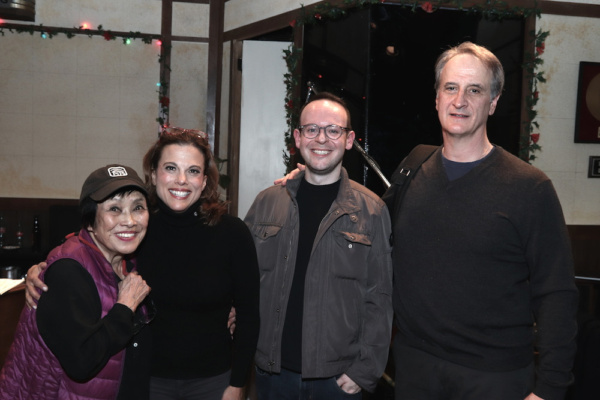 Photo Flash: Pat Suzuki, Jason Robert Brown And Georgia Stitt Visit SMART BLONDE