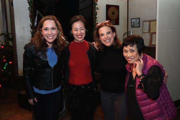 Andrea Burns, Lia Chang, Andrea Bianchi and Pat Suzuki. Photo by Garth Kravits