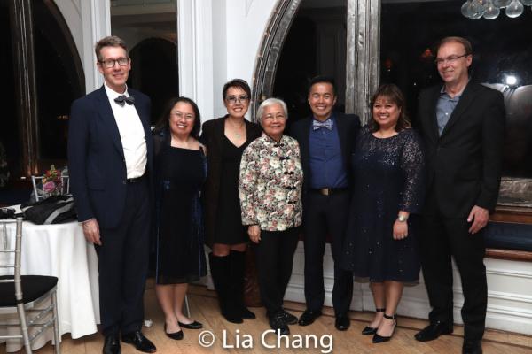 Tomas Sander, Brenda Wong, Nina Zoie Lam, Ping Fong Ng, honoree Steven Eng, Sandra Faabeng and Lasse Faabeng