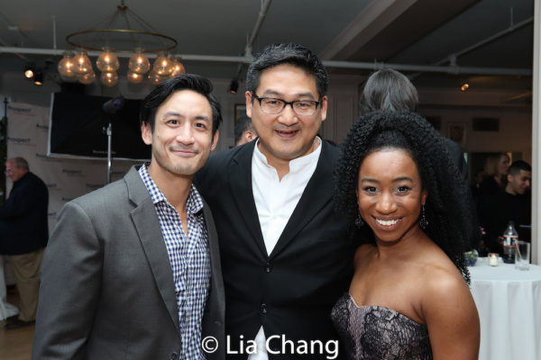 AMERICAN MORNING star Hansel Tan, creator Timothy Huang with Destinee Rea