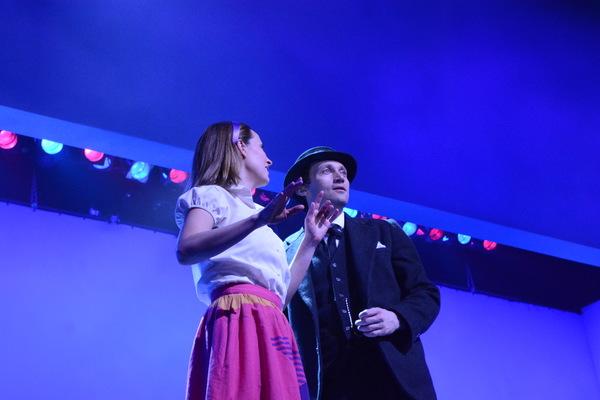 Hannah Elless and Bryce Pinkham