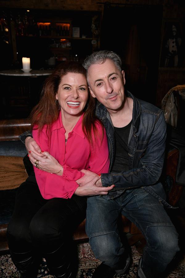 Debra Messing and Alan Cumming