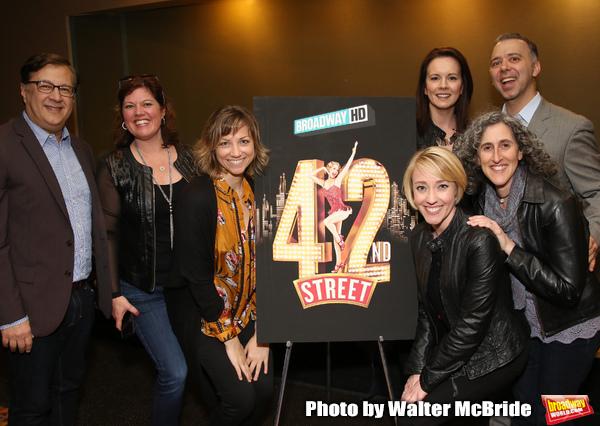 """42nd Street"" Alumni: Todd Ellison, Amy Dolan Fletcher, Sara Brians, Alison Levenberg, Kelly Sheehan, Andrew Black and Patty Lyons"