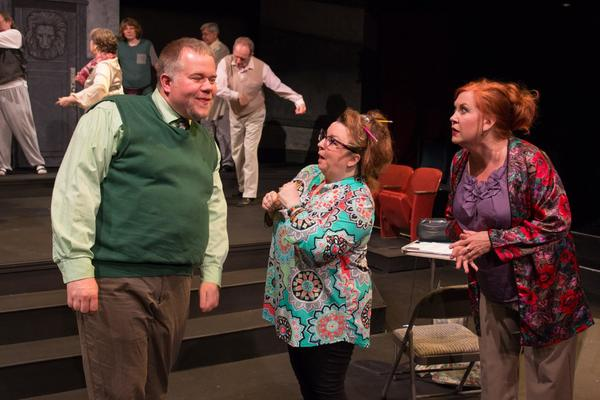 (L to R) JED SLAUGHTER (Wayne), SHELLEIGH-MAIRI FERGUSON (Phil) and STEFFANIE FOSTER  Photo