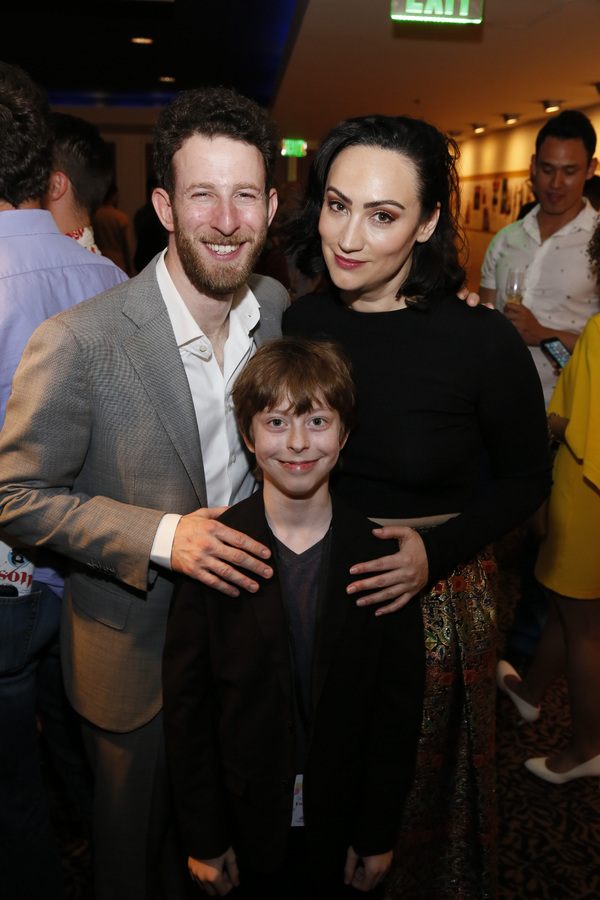 From left, cast members Nick Blaemire, Thatcher Jacobs and Eden Espinosa after the op Photo