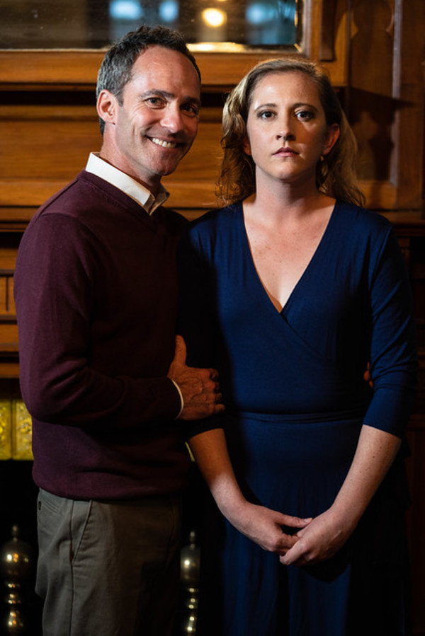 Christopher Marshall as George and Emily Belvo (Hedda)