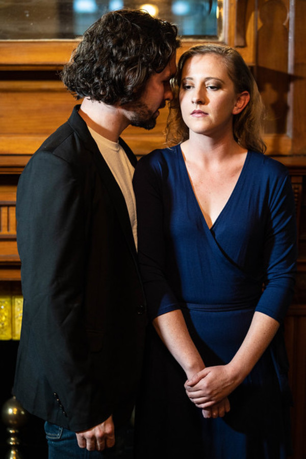 Joseph Michael-Kenneth as Eli and Emily Belvo (Hedda) Photo
