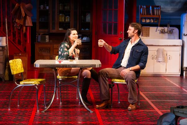 Chelsea Ryan McCurdy as Meg Magrath and Jay Sullivan as Doc Porter