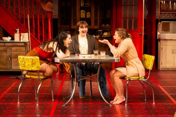 Chelsea Ryan McCurdy as Meg Magrath, Melissa Pritchett as Lenny Magrath and Skyler Sinclair as Babe Botrelle