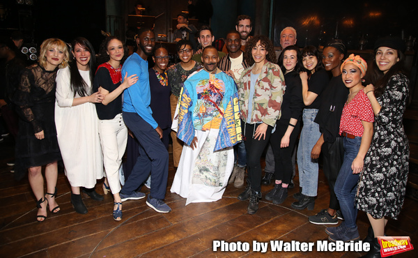 T. Oliver Reid with Anais Mitchell, Rachel Chavkin and the cast