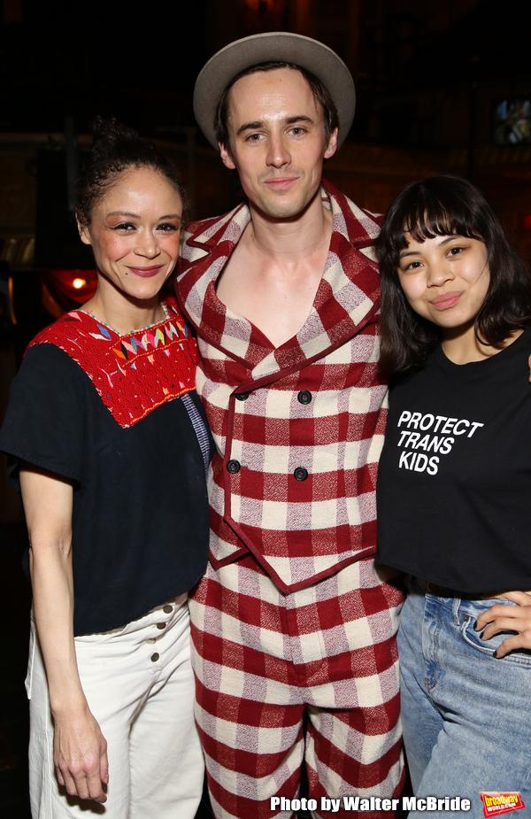 Amber Gray, Reeve Carney and Eva Noblezada
