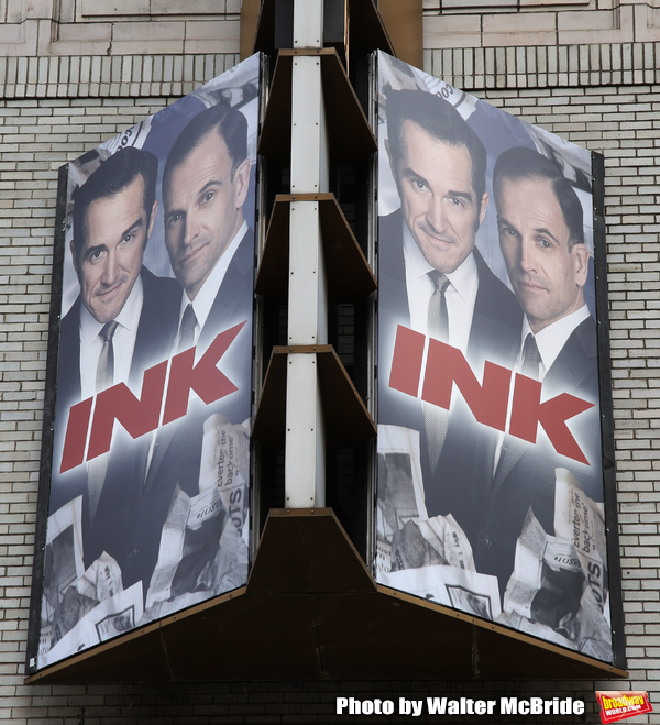 "Theatre Marquee for Manhattan Theatre Club's Broadway premiere of James Graham's ""Ink Photo"