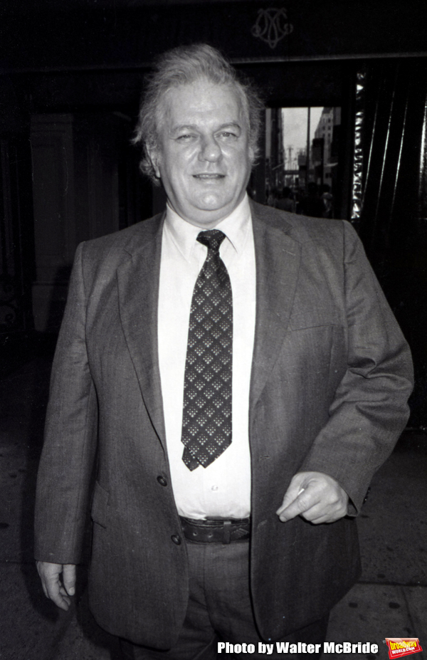 Charles Durning on the set filming TOOTSIE on June 9, 1982 in New York City.  Photo