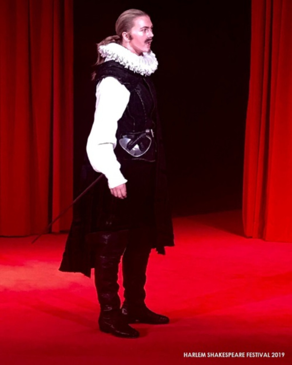 Ella Loudon as IAGO in Harlem Shakespeare Festival''s all-female OTHELLO presented by Southwest Shakespeare Company. Spring 2019.