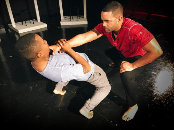Slave capture: Jeremian Gray and Gregory Malonson in FOR COLORED BOYZ  Photo