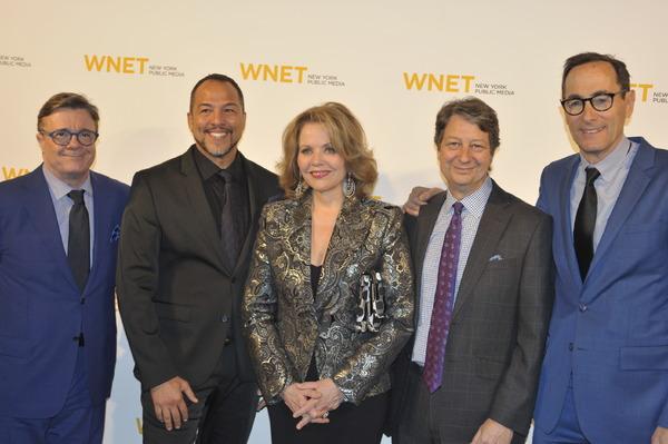 Nathan Lane, Eduardo Vilaro, Renee Fleming, Neal Shapiro, Josh Sapan