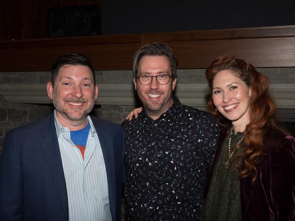 Jason Niedle, Lighting Designer Steven Young, and April Malina Photo