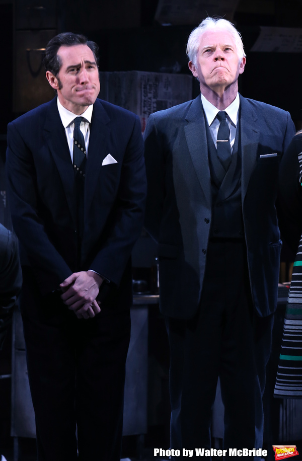 Bertie Carvel and Michael Siberry