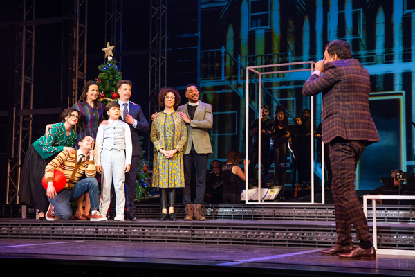 Wesley Taylor, Mandy Gonzalez, Christian Borle, Hudson Loverro, and Cast