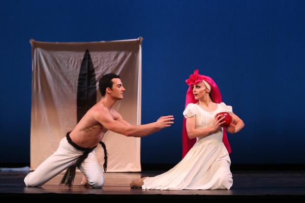 Lorenzo Pagana and Mariza Memolli in Martha Graham's El Penitente. Photo by Melissa Sherwoood.